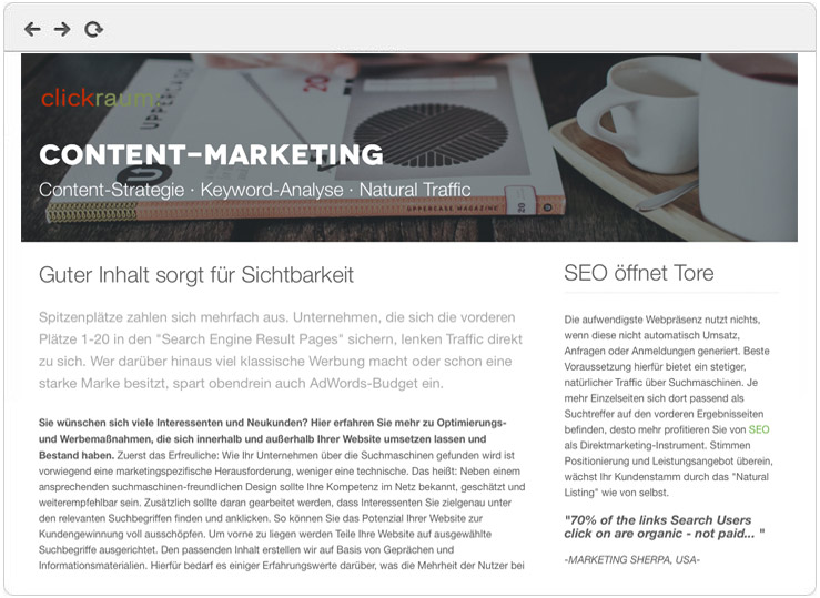 Content Marketing Agentur Frankfurt