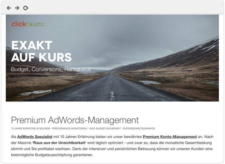 AdWords Premium Management