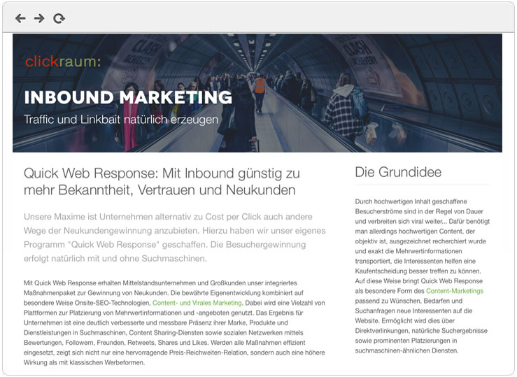 Inbound Marketing Agentur